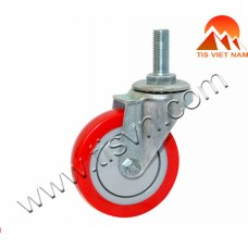 Red Threaded Swivel Caster