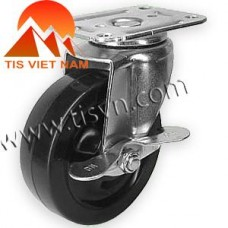 Top Plate Swivel Caster With Lock